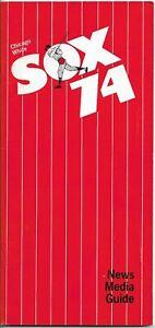 1974 CHICAGO WHITE SOX MLB MEDIA GUIDE VINTAGE