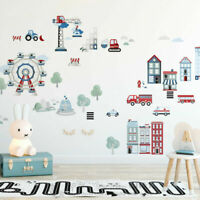 Life In The City Removable Wall Sticker Kids Boys Room Vinyl Decal Nursery Decor