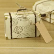 50pcs Boîte à Bonbon Dragées Bonbonnière Forme Valise pour Anniversaire