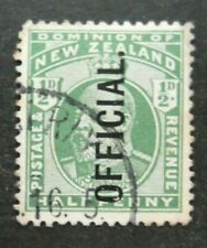 New Zealand-1909-KEVII Half Penny Official issue-Used