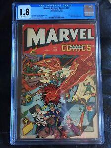 MARVEL MYSTERY COMICS  #63 CGC GD- 1.8; OW; Hitler, Goering, Goebbels cvr!