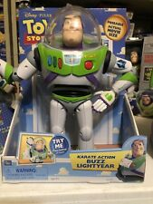 "Dismey Pixar Buzz Lightyear Thinkway Toys 12"" Figure Karate Action Poseable"