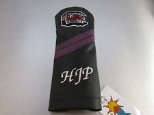 Sunfish Golf Leather DRIVER HEADCOVER Black Purple SC Gamecocks Rare