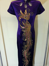 SALE! Size 10 (M) (MN-PP) New Prom Evening Long Dress Party Gown With Sequins