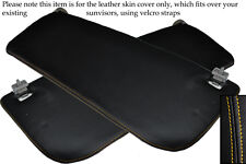 YELLOW STITCH FITS FORD TRANSIT MK7 2006-2013 2X SUN VISORS LEATHER SKIN COVERS