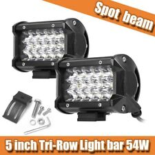 2x 54W 5 Inch LED Work Light Bar Spot Beam SUV Boat Driving Offroad ATV Lamp CAO