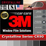 3M Window Film Crystalline 90% VLT Automotive Solar Tint Multi Size CR90