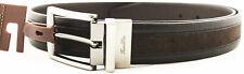Tasso Elba Accessories Mens Genuine Leather Blk/Brn Belt 3443-24 Size 36 New
