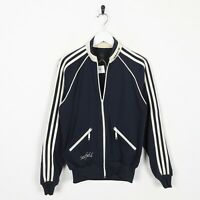 Vintage ADIDAS ORIGINALS Small Logo Tracksuit Jacket Blue Beige | XS