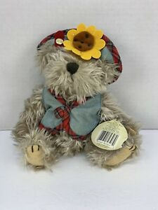 Blossom The Bear of Wealth  Legend The Brass Button Collection Stuffed Plush Toy