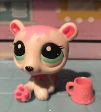 Littlest Pet Shop White And Pink Polar Bear With Aqua Eyes Authentic Lps