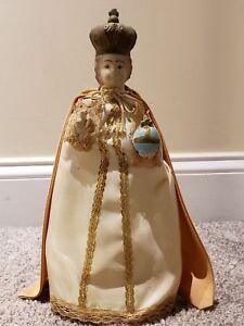 "Antique 1920's JESUS ""Infant Of Prague"" Chalkware Statue Figurine 12.5"" Italy"