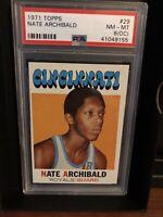 1971 Topps #29 Nate Archibald PSA 8(oc)  (Please Read Description)