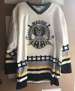 Vintage Macon Trax Hockey Jersey Minor League Ice Hockey Men's XXL Made In USA