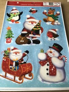 kids Reusable Glittered Christmas Window Stickers Loads Of Fun