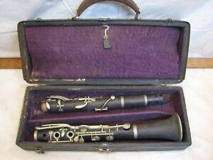 Antique Wooden Clarinet Albert Key System Wood Simple LP Musical Instrument