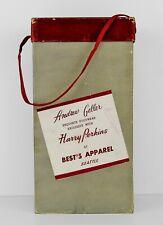 """Vintage """"Andrew Geller Footwear� Cardboard Box with Lid & Satin Handle – Guc"""