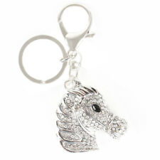 Horse Head Silver Cute Crystal Charm Purse Handbag Car Key Keychain Pendant Gift