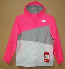 The North Face Girls' Caiman Rain Hooded Jacket Sugary Pink New NWT Large 14/16