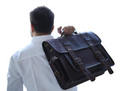 "15"" Mens Genuine Leather Vintage Laptop Messenger Handmade Briefcase Bag Satchel"