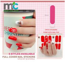 Nail Stickers Nail Wrap Self Adhesive Full Cover Nail Art 3D Sparkle 14pcs Set