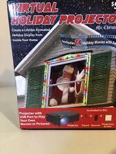 Mr Christmas Virtual Santa Holiday Projector 14 Holiday Movies + Sound Jon Hyers