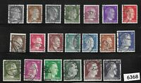 #6368    Germany complete Third Reich era stamp set Adolph Hitler 1941 thru 1944