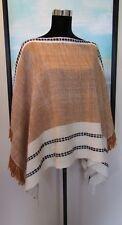 MANOS DEL URUGUAY Hand Knit Merino Silk Poncho Top/ Wrap One Size