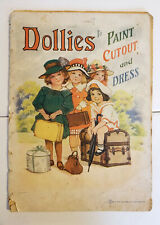 Antique Vintage Dollies to Dress to Paint Cutout & Dress Published by Saalfield
