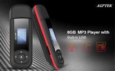 AGPTEK U3 USB Stick Mp3 Player, FM Radio, 8GB Music Player Micro SD Card MP3/WMA