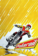 Motorcycle oil Polaroil Bike Motor Poster Print