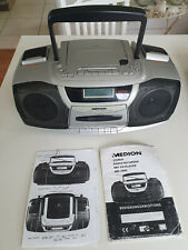 Stereo Radio Recorder mit CD- Player,tragbar,  Marke Medion, silber