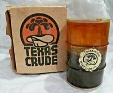 Vtg 1981 Mini Barrel Texas Crude Oil Container Souvenir Novelty Well Drill Field