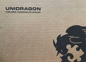 Unidragon Wooden Puzzle Jigsaw Inspiring Unicorn M-26x32cm
