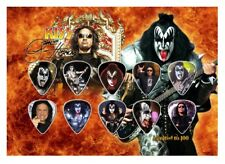 GENE SIMMONS - A5 SIZE  - KISS - GUITAR PICK DISPLAY