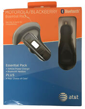 Motorola H550 Bluetooth Headset Silver Razr V3 Blackberry Vehicle Power Charger