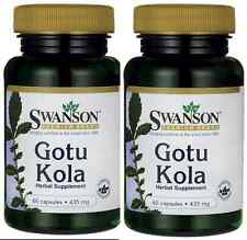 120 Caps Swanson Gotu Kola 435 mg 2X, Even Blood Flow, Brain & Vascular + Bonus