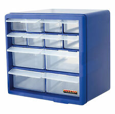 12 Drawer Blue Multi Tools DIY Storage Cabinet Organiser Box Storing Nuts Bolts