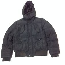 Esprit G10 Mens Hooded Bomber Jacket Black Long Sleeve Size M All Weather Gear