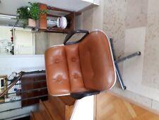Vends 2 fauteuils Knoll cuir havane année 1970