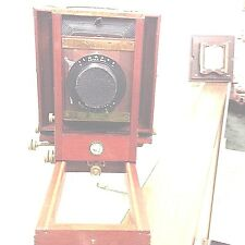 Antique 1902 Kodak Box w/Bellows Studio Century No 2 Wood Camera W/Case