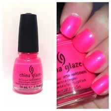 China Glaze Nail Lacquer Polish With Hardeners in 1006 Pink Voltage - 14ml