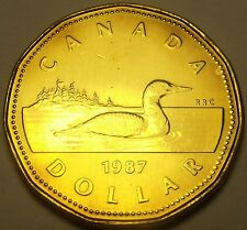Canada 1987 Loonie Dollar Gem Unc~1st Year Ever Minted~Excellent~Free Shipping