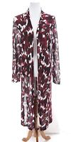 Lane Bryant Womens Open Front Long Knit Duster Cardigan Floral Print Sz 22 24