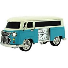 Camper van Blue Die cast Quartz Collectors Miniature Desk Clock - campervan