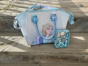 Disney Limited Loungfly Frozen 2 Elsa Purse/Bag/Tote and Loungefly Frozen Wallet