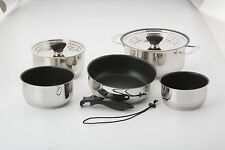 Galleyware 14-pc. Stainless Steel Nesting Non-Stick Cookware Set