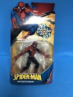 Spider-Man Figure with Wall Sticking Web! Hasbro 2009 BRAND NEW Red & Black
