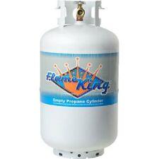 30 lb Vertical Cylinder Refillable Propane Steel LPG Tank, Flame King