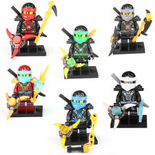 6 X Minifigures Ninjago NINJA Jay Cole Nya Lioyd  Zane Figures Building Toy LEGO